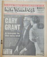 NY Post  Hollywood Star Cary Grant Final Hours Before his Death 1986 Newspaper