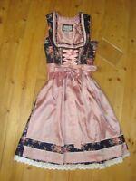 Marjo Dirndl dunkelblau rosa 58 cm Gr. 34