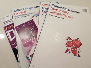 Official Programmes from London 2012 Olympic & Paralymic Games + Football