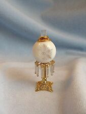 dollhouse doll house miniature ELECTRIC VICTORIAN TABLE LAMP WHITE STAR