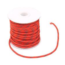 5mm Reflektierenden Abspannleine Abspannseil Zeltschnur für Zelt Rot 20m