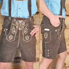 TOP Trachten LEDERHOSE Kurz Braun leather trousers SMARTPHONE TASCHE KUHA1
