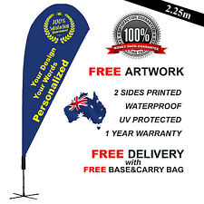 4.5m PERSONALIZED Teardrop Flag Banner Sign-FLAG ONLY (Exc Poles and Base)