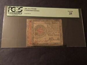 Continental Currency Jan. 14, 1779 $20 Very Fine 25