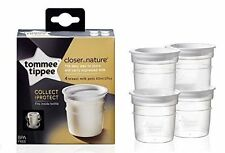 TOMMEE TIPPEE CLOSER TO NATURE BREAST MILK STORAGE POTS PACK OF 4   0m+ BPA FREE