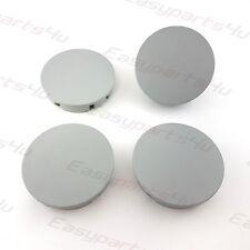 4x Centre Caps for ALLOY WHEEL HUB 65 - 62mm VOLVO OPEL Grey Matte