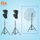 2PCS Flash Shoe Umbrella Holder Swivel Light Stand Bracket B + 220cm light stand