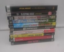 10 GAMES PC UK IN ENGLISH STAR WARS,MAX PAYNE, AGE OF EMPIRES III,SLEEPING DOGS