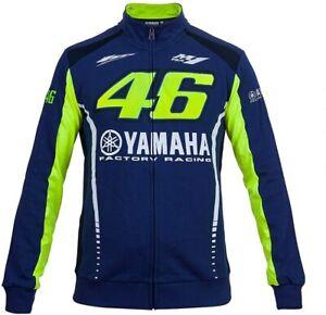 VR46 Yamaha Jacket > Full Zip Up Valentino Rossi MotoGP Mens Fleece - Blue