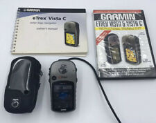 Garmin eTrex Vista C Altimeter Hiking Handheld GPS With Manual Book, DVD, Case.