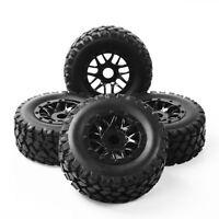 4pcs 1:10 Short Course Truck Tires&Wheel Rim 17mm Hex For TRAXXAS SLASH RC Car
