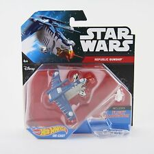 New Star Wars Hot Wheels Republic Gunship Die-Cast Toy Vehicle Mattel Ship BNIB