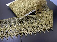"Venise Lace 4 3/4"" Metallic Gold 3 Yards"