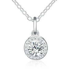 silver 925 wedding Party Fashion charms crystal women Necklace Jewelry cute hot