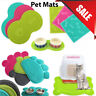 Pet Dog Puppy Cat Feeding Mat Pad Cute PVC Bed Dish Bowl Food Feed Placement FY