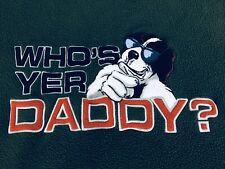 "Polar Dogs by Big Dogs Mens size 3XL ""Who's Yer Daddy"" Green Fleece Sweatshirt"