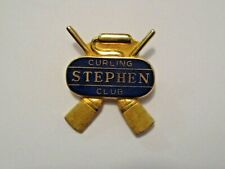 VINTAGE STEPHEN MINNESOTA CURLING CLUB SPORTS CURLING PIN ~ GREAT L@@KING PIN
