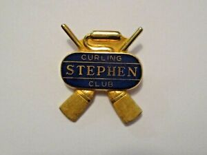 VINTAGE STEPHEN MINNESOTA CURLING CLUB SPORTS CURLING PIN ~ GREAT L@@KING PIN