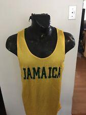Mens Small Basketball Jersey Jamaica Reversible Yellow / Green