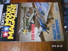 1µ?a Revue Tamiya Model Magazine n°18 Hummer Gribeauval P-51D USS Enterprise