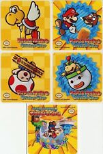 5 x Square Stickers ~ Paper Mario Parrakarry Bowser Count Bleck Party Favours ~
