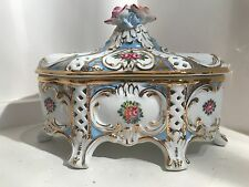 Vintage Capodimonte Candy Dish with Lid