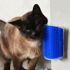 Cat Self Groomer Brush Wall Corner Grooming Massage Comb Pet Toy With Catnip