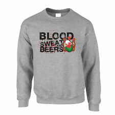 Cotton Crew Neck Rugby Graphic Hoodies & Sweats for Men