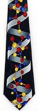 Single Helix Mens Necktie Scientist Math Biology Science Gift Black Neck Tie New