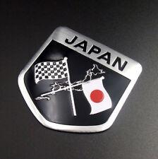 Japan Japanese Flag Shield Emblem Metal Badge Car Truck Motorcycle Sticker