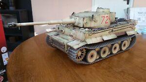 Heng long 1/16  RC German Tiger 1  Tank custom paint pro version bovington 131