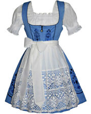 Sz 22 German Dirndl Dress Waitress Oktoberfest Party Holiday EMBROIDERED 3 Pc