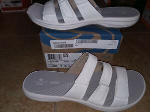 NEW Womens Clarks Brinkley Coast Slide Sandals, size 9           shoes