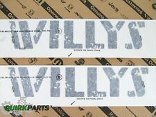 14-17 Jeep Wrangler WILLYS EDITION HOOD  DECAL STICKERS BLACK SET OF 2 NEW MOPAR