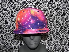 Big Bear Pink,Purple,Orange Galaxy Design Snapback Cap Hat One Size NEW NWT