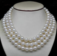 AAA perfect natural 10-11mm white south sea pearl necklace 50 inch 14k