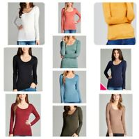 Women's  Basic Shirt  Long Sleeve Scoop Neck T-shirt  Tops Plus size (1XL-3XL)