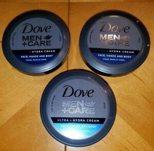 Dove Men + Care (LOT OF 3) Ultra Hydra Cream Face Hands and Body 2.53 fl oz