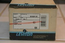 Leviton 81000-3i Switch Type: 3-Way sparate ON/OFF switch and