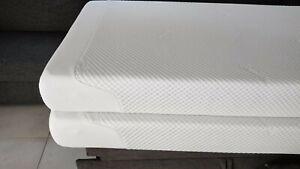 Biete zwei wenig benutzte Tempur Matratzen (90x200), da Fehlkauf. Modell Cloud.