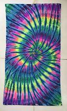 *New* Handmade Tie Dye Rainbow/Blue Washcloth Hand, Bath Towel, Single or Set