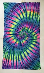 *New* Handmade Tie Dye Rainbow/Blue Washcloth Hand, Bath Towel, Single or Set
