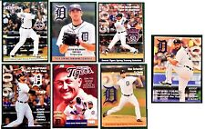 7 Different  Detroit Tigers Spring  Schedules Miggy JD JV V-Mart Ty Cobb Max