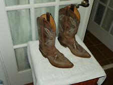 Justin Western Boot Bent Rail Distressed Chocolate Brown Puma Women's size 8 B