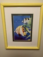 Mark Newman Framed Butterfly Fish Signed Artist Proof Print - Tropical Fish