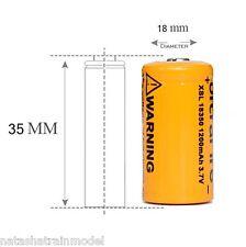 Batterie ricaricabili Ultrafire 18350 1200mAh 3.7V Li-ion 1 pezzo 35mm