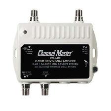 Channel Master 3412 Mini Distribution Multi-Media Drop Amplifier 2 Port CM3412