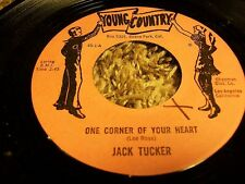 """Rare Country 45 JACK TURNER """"One Corner Of Your Heart"""" Young Country Label!"""