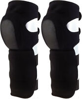 Black Tactical Shin Guards Synthetic Neoprene Soft Knee Pads
