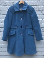 Warehouse Teal Vintage Style Fitted Winter Coat Size 12